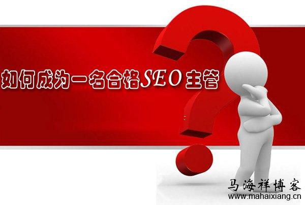 如何成为一名合格SEO主管?