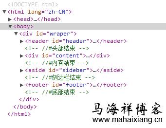响应式网页html结构