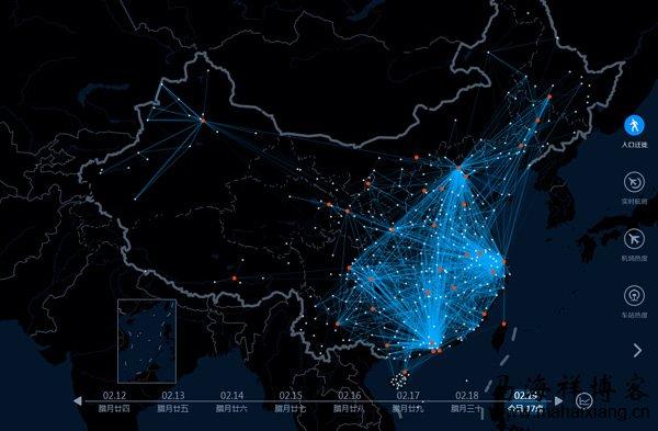 百度迁徙图的大数据是如何做出来的?
