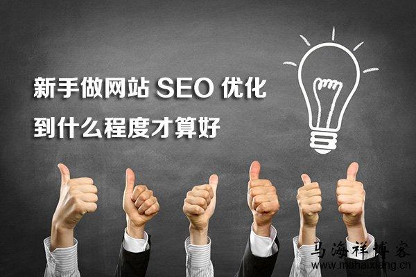 新手做网站SEO优化到什么程度才算好