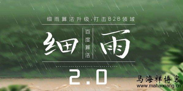 细雨算法2.0即将上线:主要打击B2B领